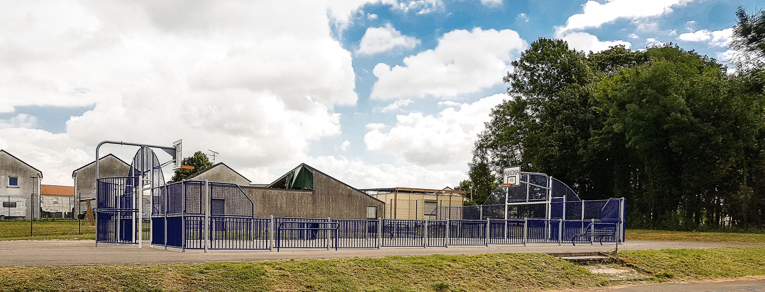 A visiter : stade de basket dans le parc Buirette