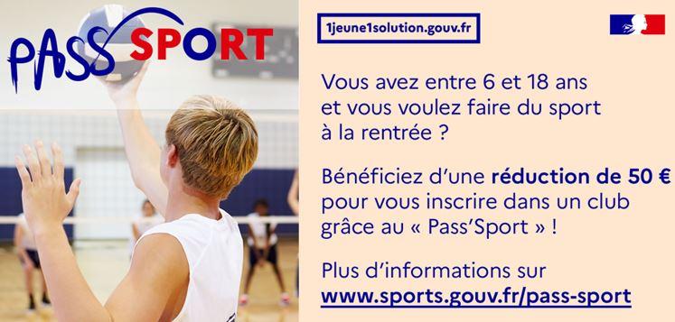 Pass'Sport : Une aide pour la rentrée sportive.